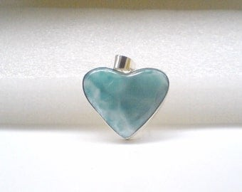 Love Larimar pendant Heart set in Sterling Silver 925 perfect for Mothers day gifts for her
