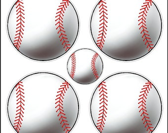 Peel and Stick Baseball Stickers Removable Wall Decals