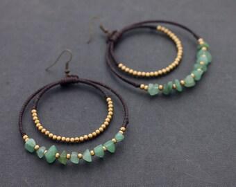 Jade Chandelier Stone Earrings