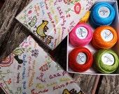 "Custom order for Nicole - 3 boxes ""Love Kierchiefs"" embroidery floss"