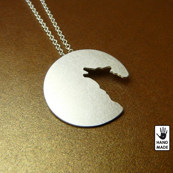 PROMOTIONAL PRICE :) - Lone Wolf - sterling silver pendant on a sterling silver chain, handmade