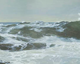 Breaking Swell Paper or Canvas Giclee Print Seascape Ocean Pacific Northwest Coast by Carol Thompson
