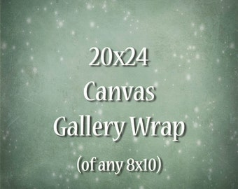 20x24 Canvas Gallery Wrap - of any 8x10 size photograph
