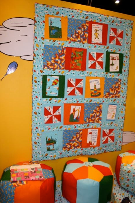 Oh The Places You Ll Go Dr Seuss Quilt Panel Pastel