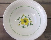 Vintage Wedgwood China Serving Bowl Yellow Flower