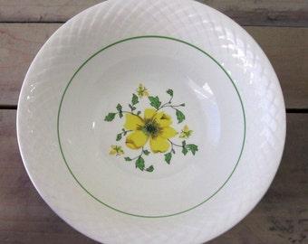 Vintage Wedgwood China Serving Bowl Yellow Flower