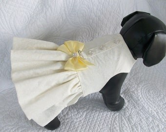 Wedding Dog Dress Ruffled  Harness for Dog or Cat Outfit
