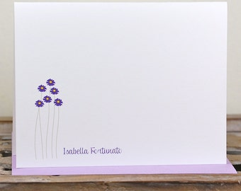 Floral Note Cards. Personalized Note Cards. Thank You Cards. Note Cards- Flower Personalized Folded Note Cards