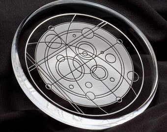 Cosmos Etched Glass Paperweight