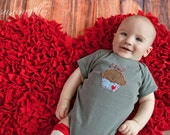 "Valentine's Day ""STUD MUFFIN"" Bodysuit for Baby BOYS, perfect for 1st Valentine's Day Pics"