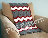 Crochet throw pattern, chevron blanket pattern, crochet afghan patten, easy baby blanket pattern, crochet chevron pattern, afghan