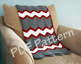 Crochet throw pattern, chevron blanket pattern, crochet afghan patten, easy baby blanket pattern, crochet chevron pattern, afghan