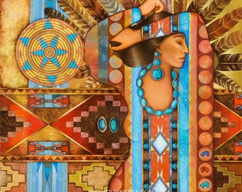 Navajo Weave - A Fine Art Greeting Card
