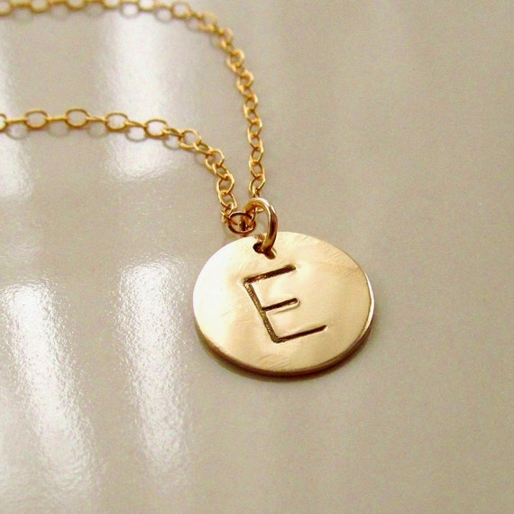 initial necklace gold disc images