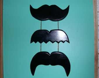 Three Mustaches wall art home decor