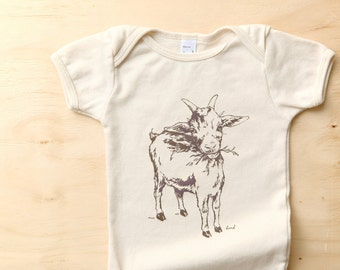 organic GOAT tee . 12 months - 8 years . by Lund Studios