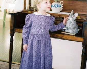 Girl's Peter Pan Collar Dress Sizes 8-12