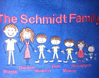 Embroidered Family Blanket