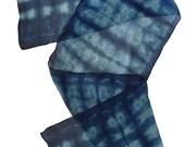 Shibori silk chiffon scarf