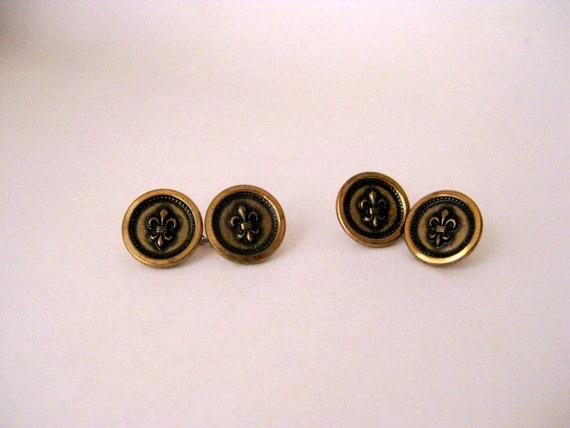Vintage Button Cuff Links