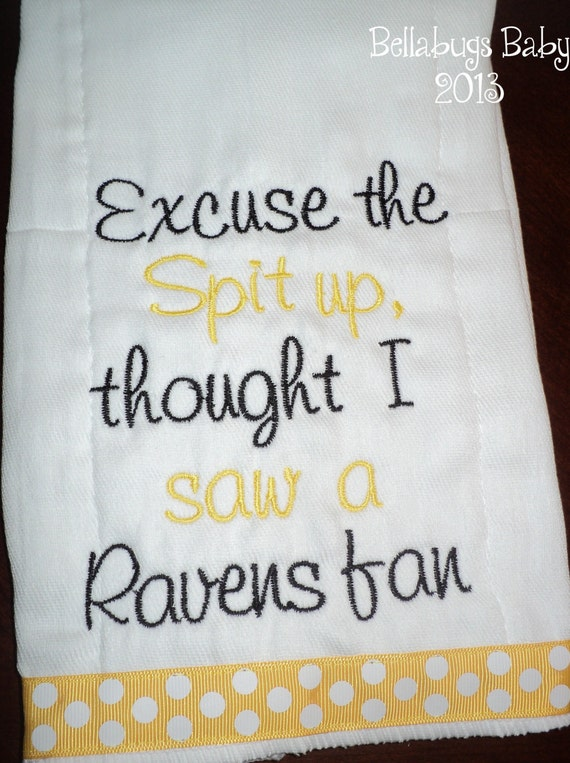 pittsburgh steelers excuse the spit up team monogrammed