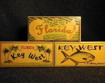 Key West Florida beach house decoration fishing lure boxes