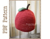 Apple Hat Crochet Pattern, 8 Sizes from Newborn to Adult, APPLE Of MY EYE - pdf 301