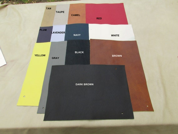 """MA-80     Custom for Brittany Leather Remnants 9""""x12"""" Rectangles in 10 piece packages"""