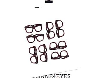 Note Cards.Eye Am A Geek. Stationery.Cards.Geek.Nerd.Glasses.Eye Wear.Vision.Site.Eye Exam.Optometrist.Water Color.Sketch.by Yvonne4eyes