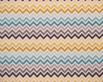 Chevron Fitted Crib Sheet in Multi Color