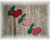 CHERRY Baby Snap Clip - You Choose ONE - Baby Hair Bow - Snap Clip Cherry Hair Bow
