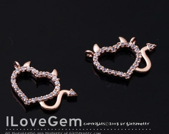 NP-1474 Rose Gold plated, Heart Pendant, 1pc
