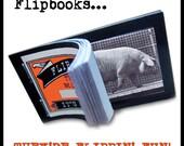 Pig Flipbook retro vintage animal cinema the original movie A Muybridge kineograph flip book silent pictures with moving animation