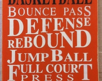 Basketball - Typography Word Art in OrangeFREE Shipping •