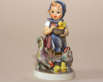 "Hummel Figurine - Feeding Time - 199  TMK4 - 4-1/4"" SMALL SIZE"