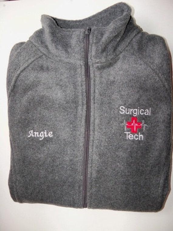 Tech Embroidered Fleece Jacket NICU ER Nurse Ortho
