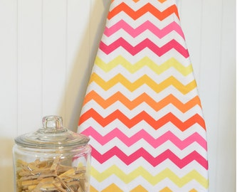 Ironing Board Cover - Michael Miller Stripes Chic Chevron Sun Yellow