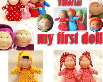 My first doll - waldorf inspired - how to - tutorial - ebook - by Immertreu