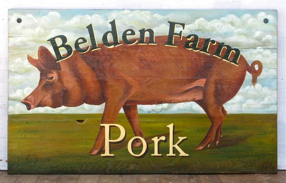 Custom Pub Restaurant  Farm Stand Store Tavern Family Market sign hand painted on solid wood