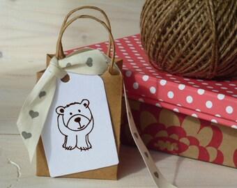 Bear Cub Olive Wood Stamp