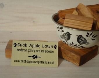 Simply Embellished 3 Line Olive Wood Business Stamp