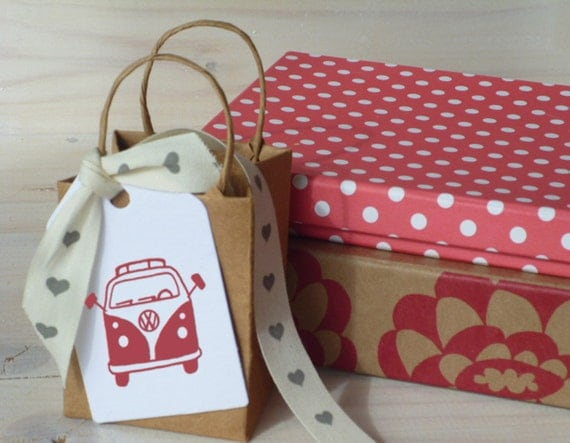 VW Camper Van Olive Wood Stamp