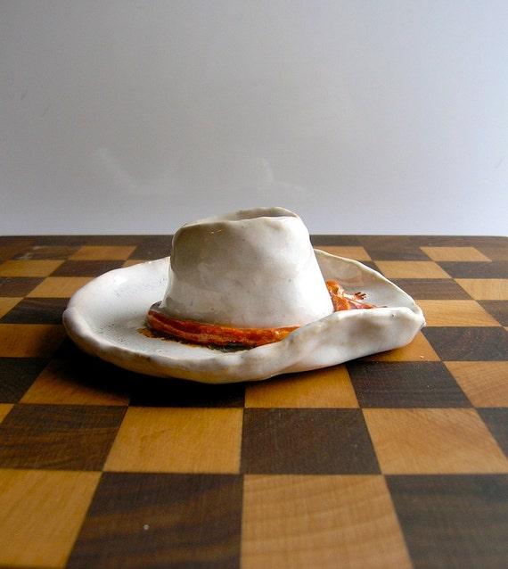 50s Marlboro cowboy hat vintage ash tray - Mad Men cowboy dude chic - Gordon Nelson Texas-  Marlboro Man chic