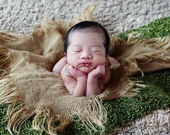 Burlap Blanket Newborn Photo Prop Baby Photography Props Layering Blankets Burlap Prop Baby Blanket Prop Photo Props