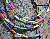 Rainbow Fiesta Bright Howlite Bib Multicolored Necklace