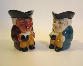 2 Vintage Staffordshire Shorter Toby Jugs  England  Figural Mugs