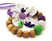 Lime Lavender Nursing Necklace / Teething necklace / Flower Necklace