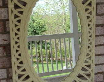 Vintage Retro Shabby Chic White Mirror Cottage