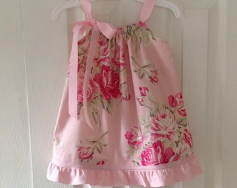 Cottage Rose Dress in Pink  by Cheryl's Bowtique / 2016 Cottage Collection