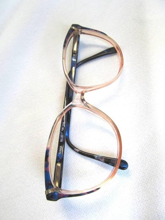 Big Blue Glasses Frames : 80s Goes 50s Glasses Frames Big Eyes Geek Blue by ...